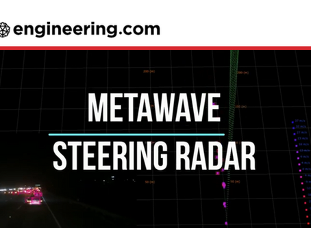 Metawave's Analog Beamsteering Radar for AVs Provides New Levels of Accuracy and Resolution