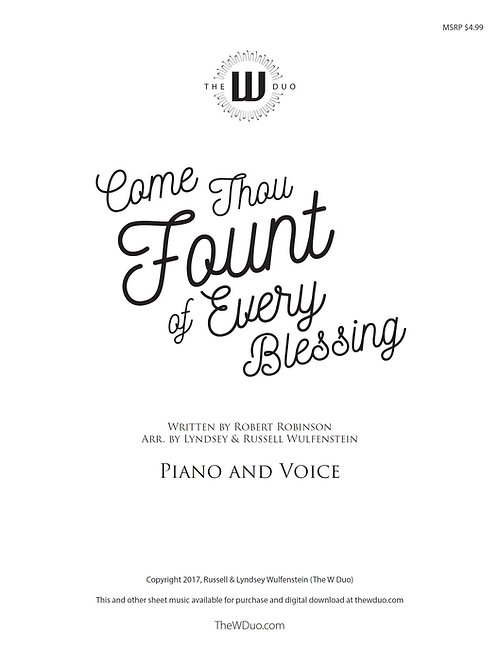 Sheet Music: Come Thou Fount of Every Blessing