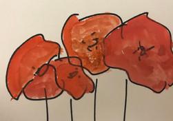 Etegami poppies