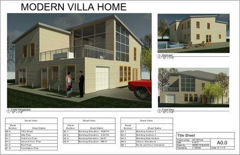 Modern Villa Cover Sheet