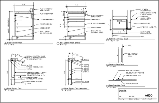 Cabinetry Detail Drawing