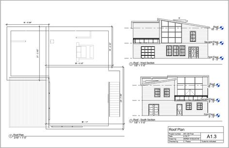 Modern Villa Roof Plan