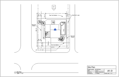 Modern Villa Site Plan