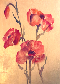 Poppies on Gold
