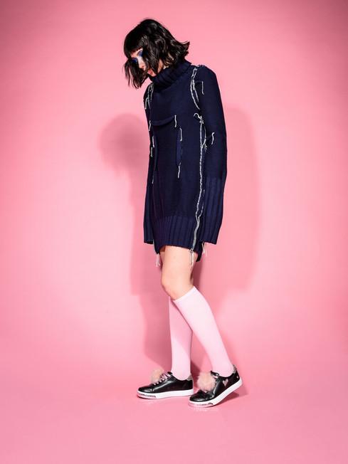 Kruzin Footwear - Nicki Black Pink