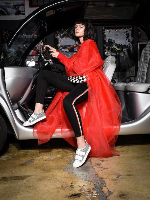 Kruzin Footwear - Thunder White Crystals