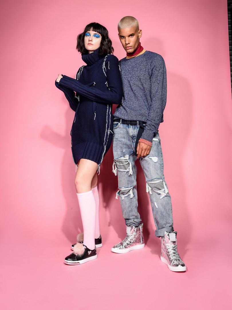 Kruzin Footwear - Nicki Black Pink & Crazy Horse Camo Silver