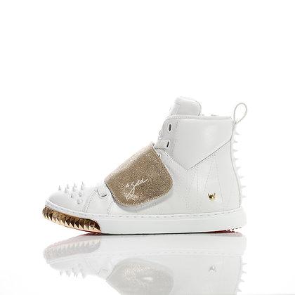 Velcro Horse White/Gold