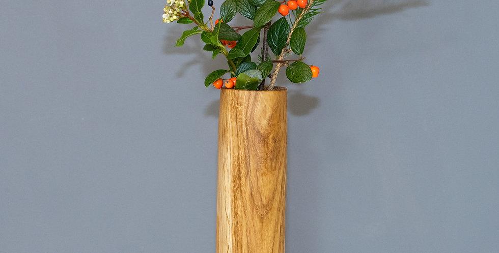 Tall Straight Oak Vase