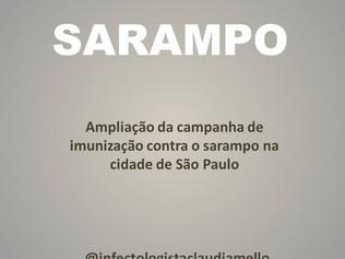 Sarampo na cidade de São Paulo
