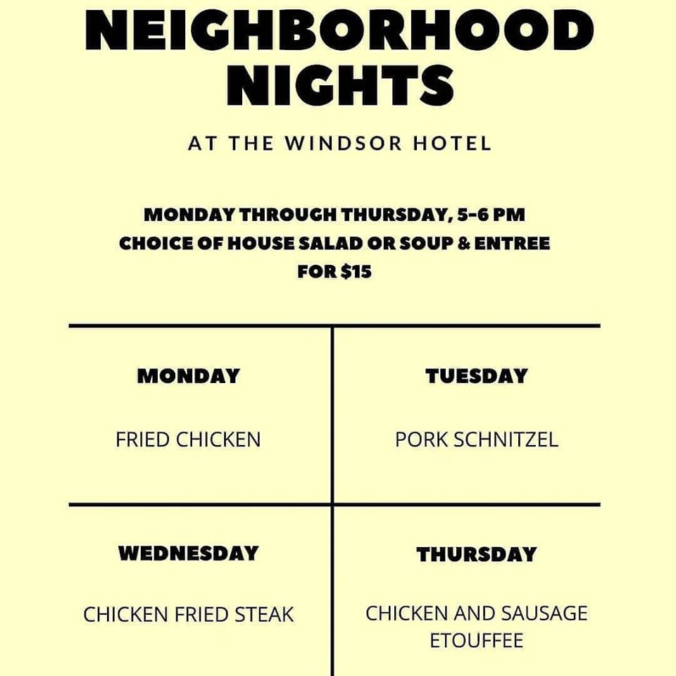 Windsor Hotel & 1874 Food Truck