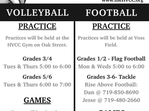 Register for Volleyball and Flag Football