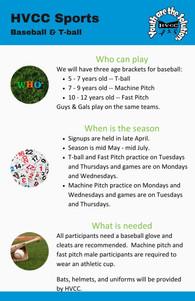 HVCC Baseball & T-ball