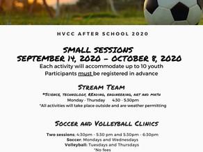 September 2020 After School Programs