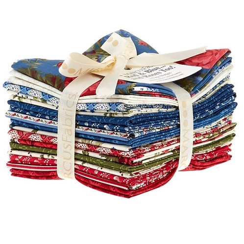 Red and Blue and Rose  too Fat Quarters