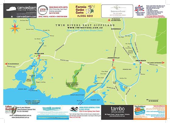 Twin Rivers region map