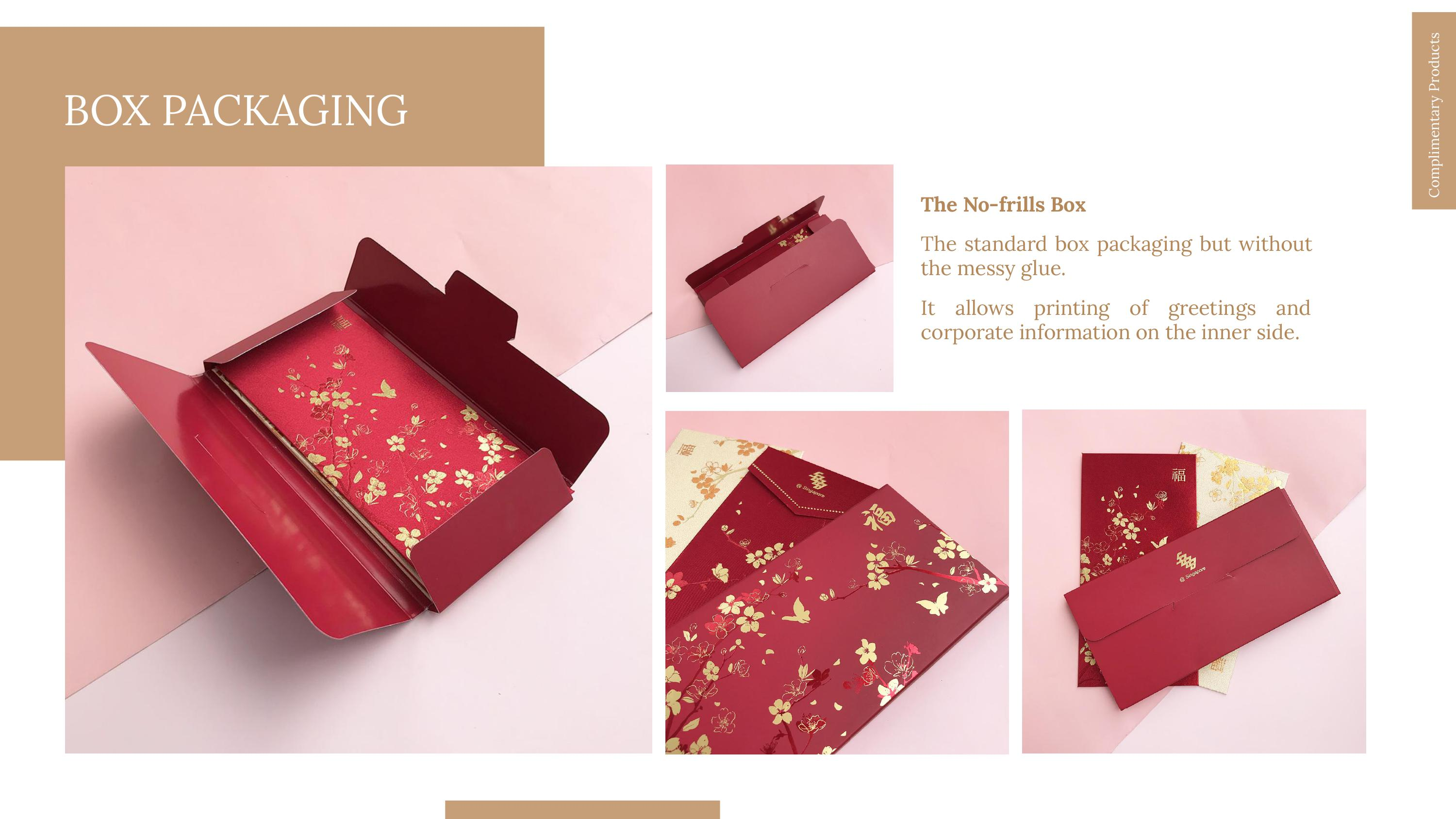 red packet box packaging