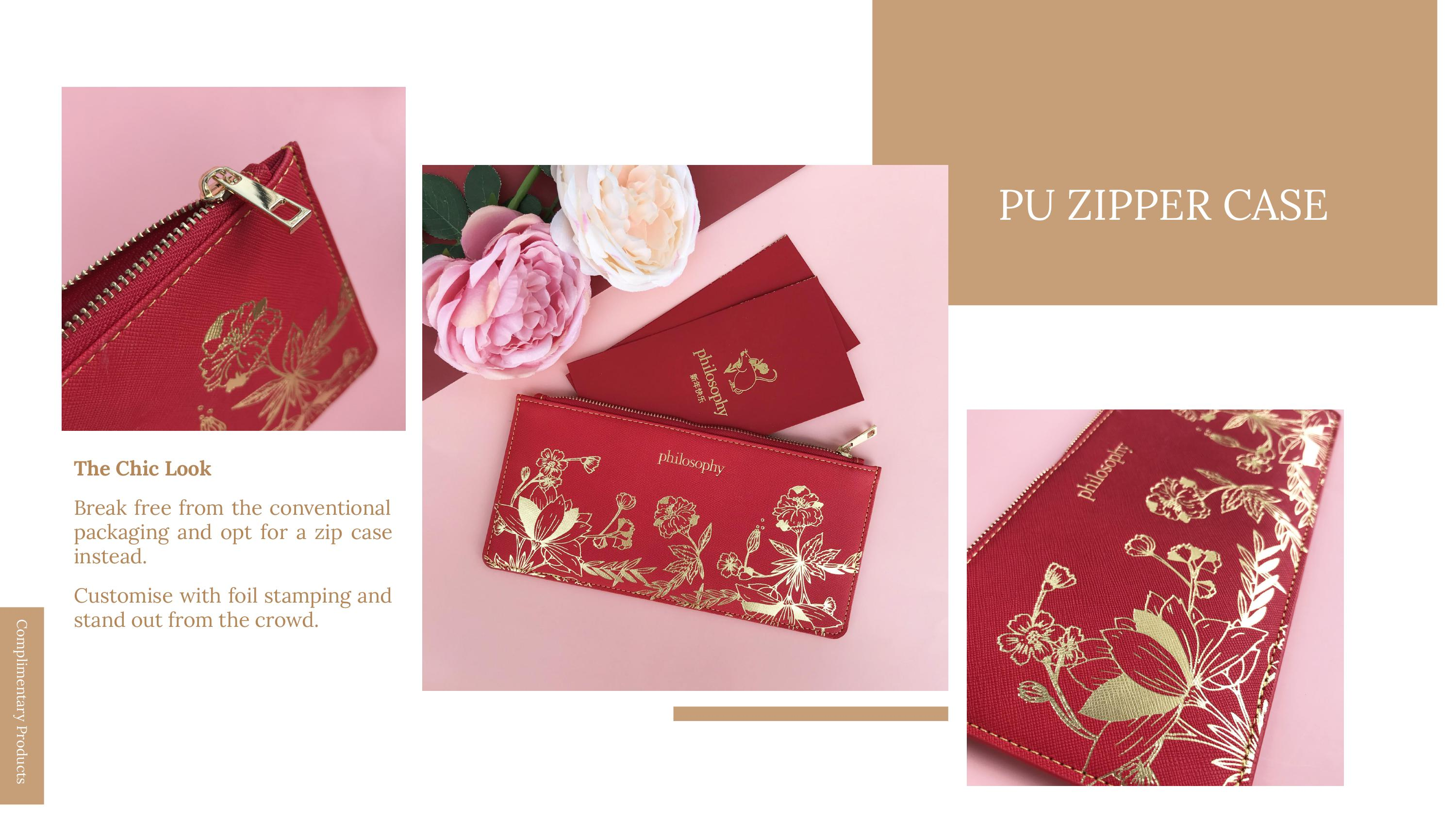 cny pouch with zip