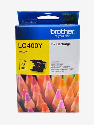 BROTHER INK CARTRIDGE LC400Y