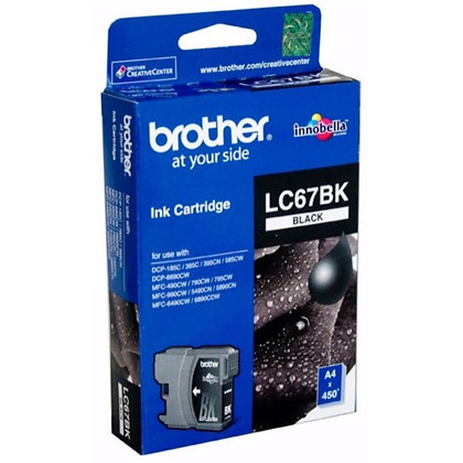 BROTHER INK CARTRIDGE LC67BK