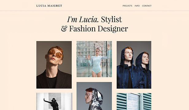 Portfolio website templates – Wardrobe Stylist
