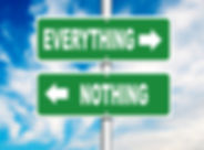 Nothing and Everything Road Signs with a