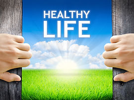 Healthy Life. Hand opening an old wooden