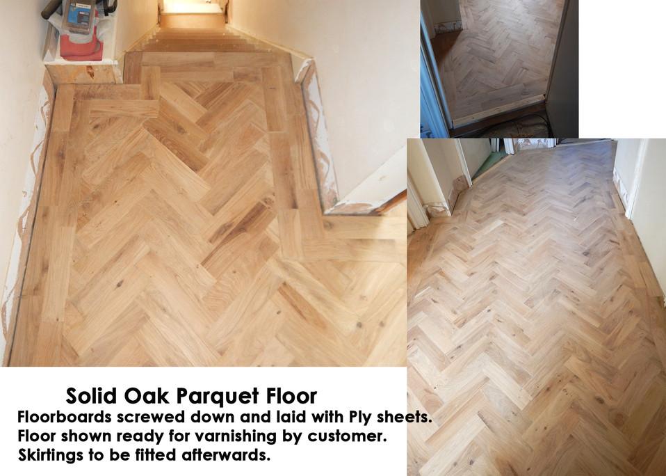 Fitting an Oak Parquet Floor