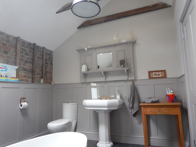 Custom built panelling for bathroom