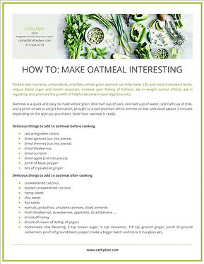 How to Make Oatmeal Interesting graphic.