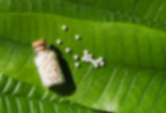 Homeopathy - A homeopathy concept with h