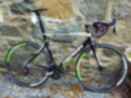 Reacto road bike, Team Lampre Merida colours. Alloy frame, 11 speed, Shimano 105 groupset £1150