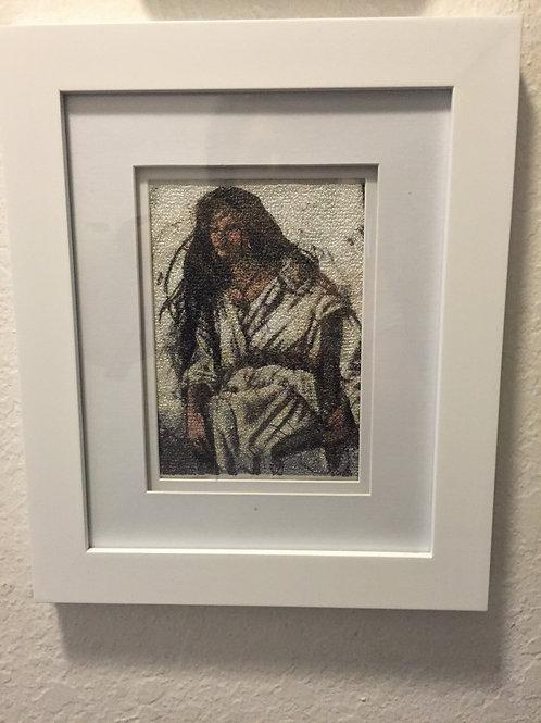 Indian Maiden framed 8x10
