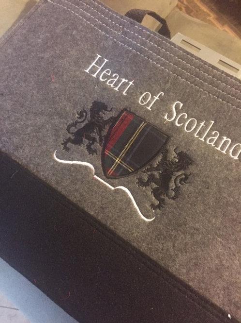Heart of Scotland Tartan Shield Bags