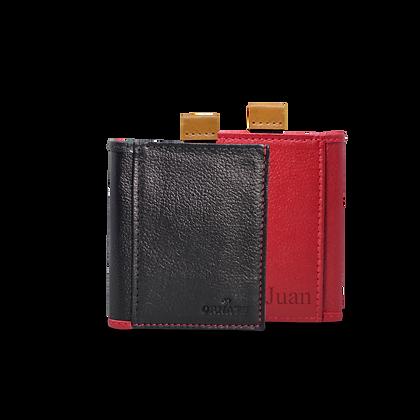 Billetera Mónaco Negro/Rojo