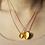 Thumbnail: Grands coeurs - Plaqué or jaune poli et sablé