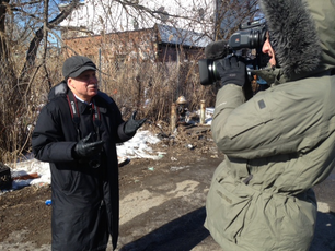 Interview at Mob Burial Ground
