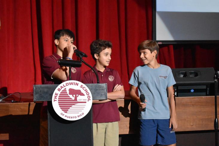 8th grade community service presentations