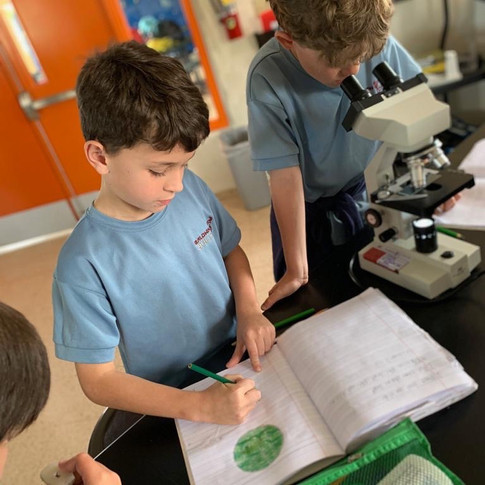 visit to middle upper school science labe