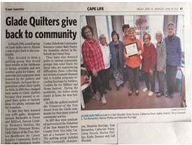 Glade Quilters 20th Gazette.JPG
