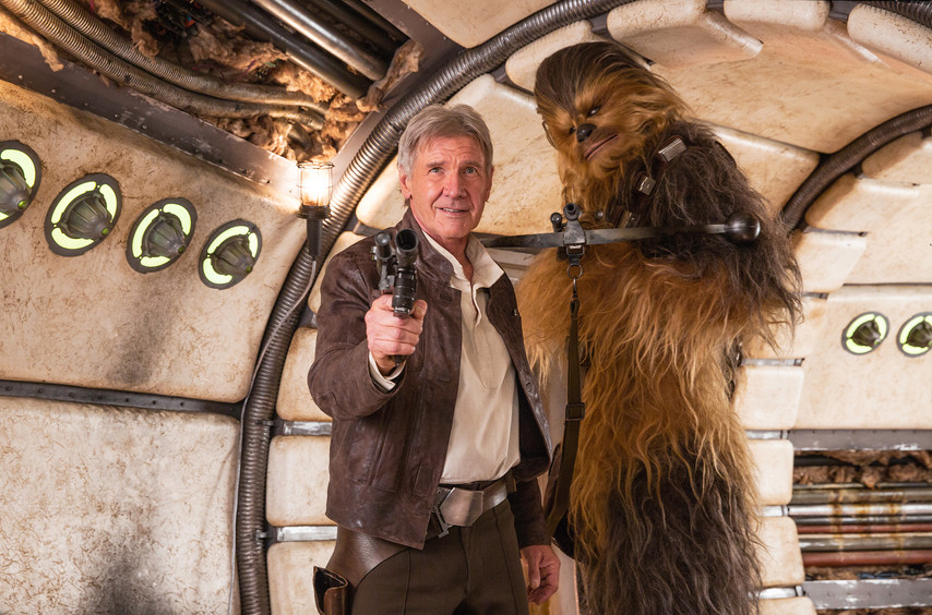 Harrison Ford and Chewbacca.