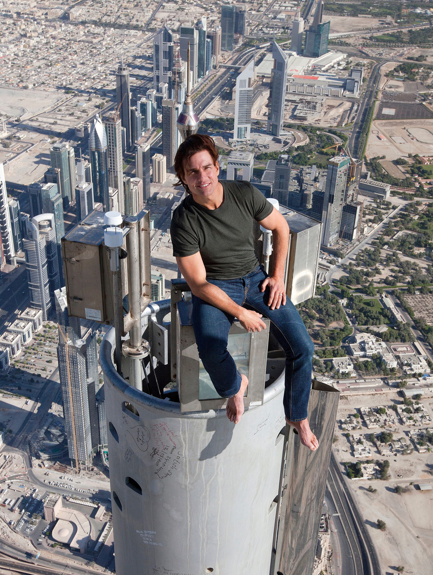 Tom Cruise on The Burj Kahlifa