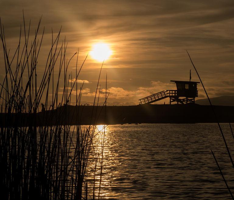 Life Gaurd Hut Zuma Sunset.jpg