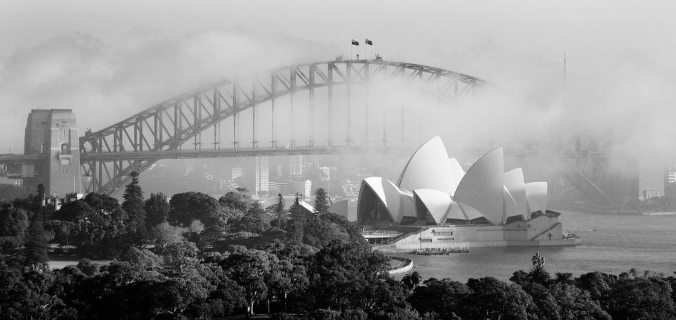 Sydney Harbour mist