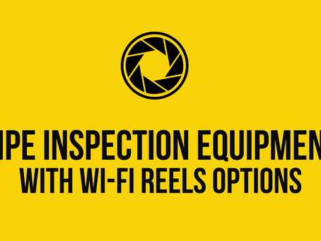 Pipe Inspection Equipment with Wi-Fi Reel Options