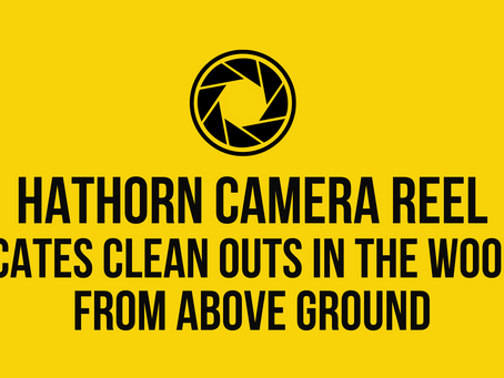Hathorn Camera Reel Locates Clean Outs in the Woods, From Above Ground