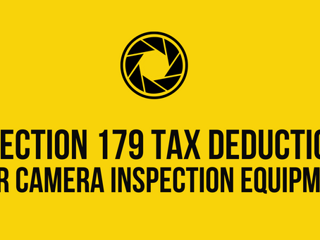 Section 179 Tax Deduction for Camera Inspection Equipment