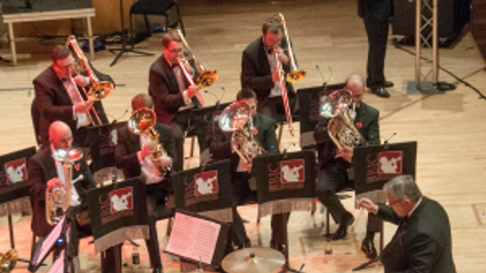 Grimethorpe Colliery Band at Brass in Concert 2014. Photo from brassinconcert.com