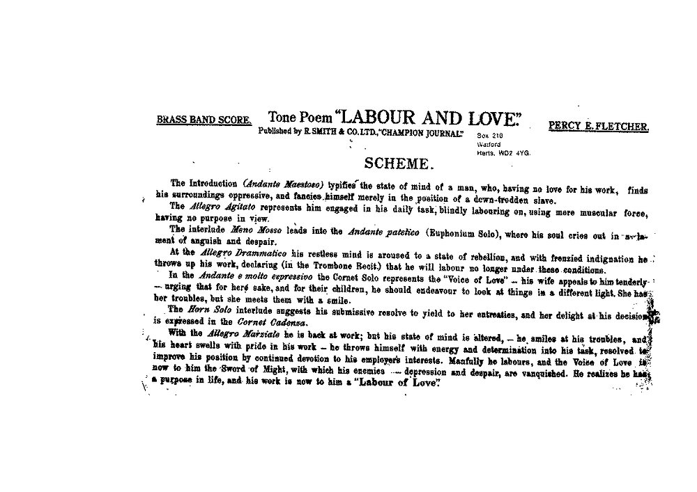 Image result for labour and love sheet music percy fletcher