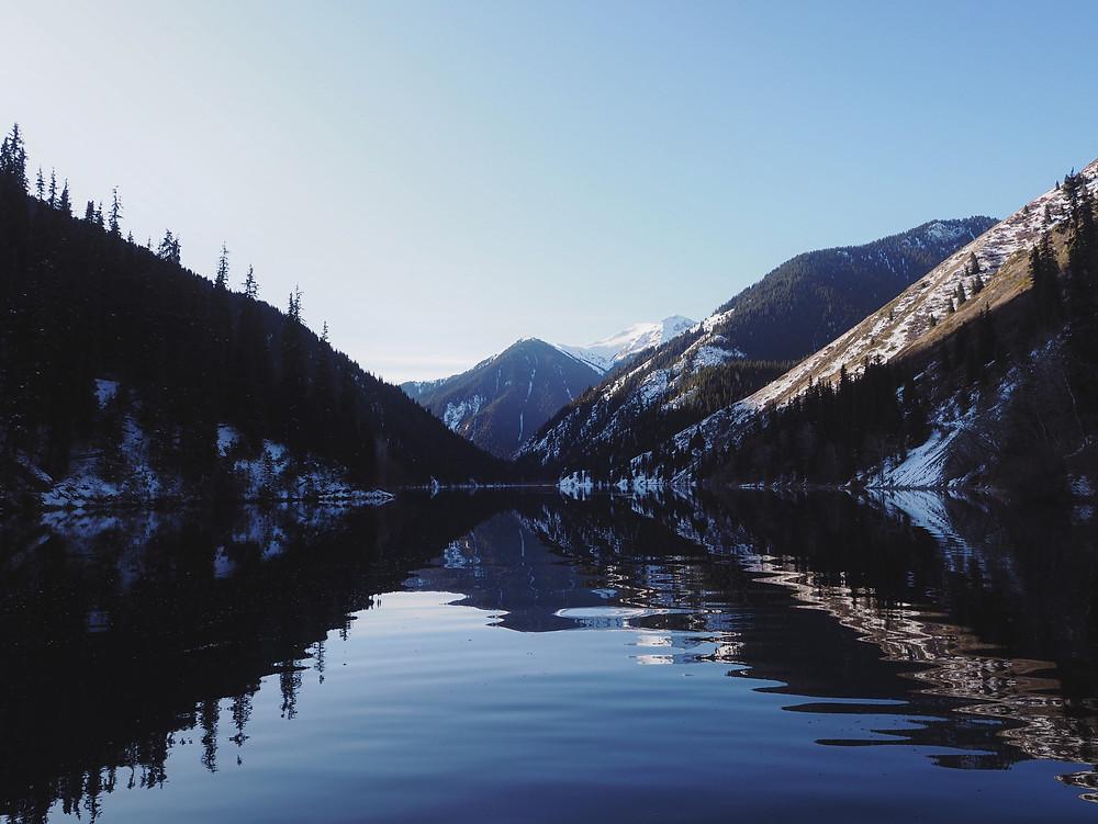 Kolsai 第一湖近照。